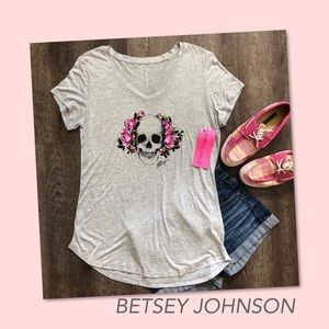 BETSEY JOHNSON Performance Skull and Roses NWT